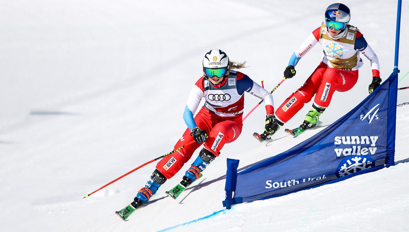 Men and women ski cross racers shine, good and bad luck for the Alpine team