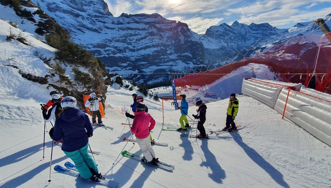 Exklusive Streckenbesichtigung und Einblicke in das Leben eines Skirennfahrers